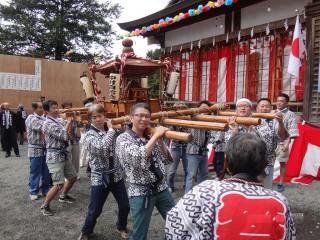 中村神輿 今年は少数精鋭で